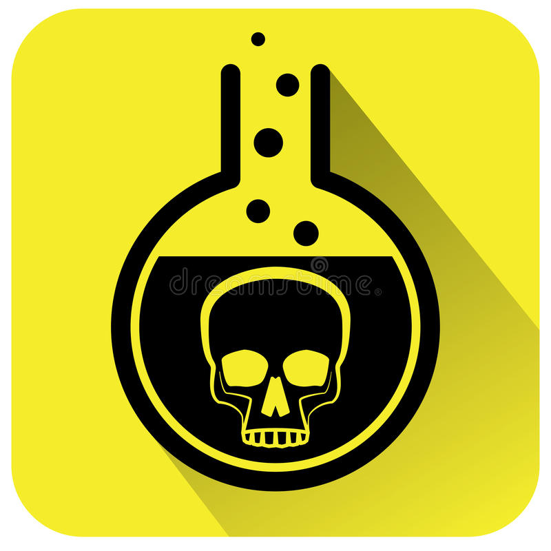 Giftigt kemiskt varningstecken royaltyfri illustrationer