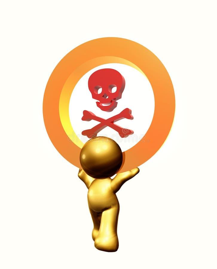 giftigt symbol för symbol vektor illustrationer