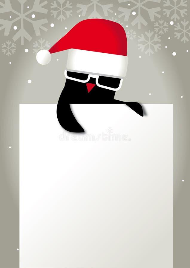 Giftkaart, Groetkaart, Kerstmis royalty-vrije illustratie