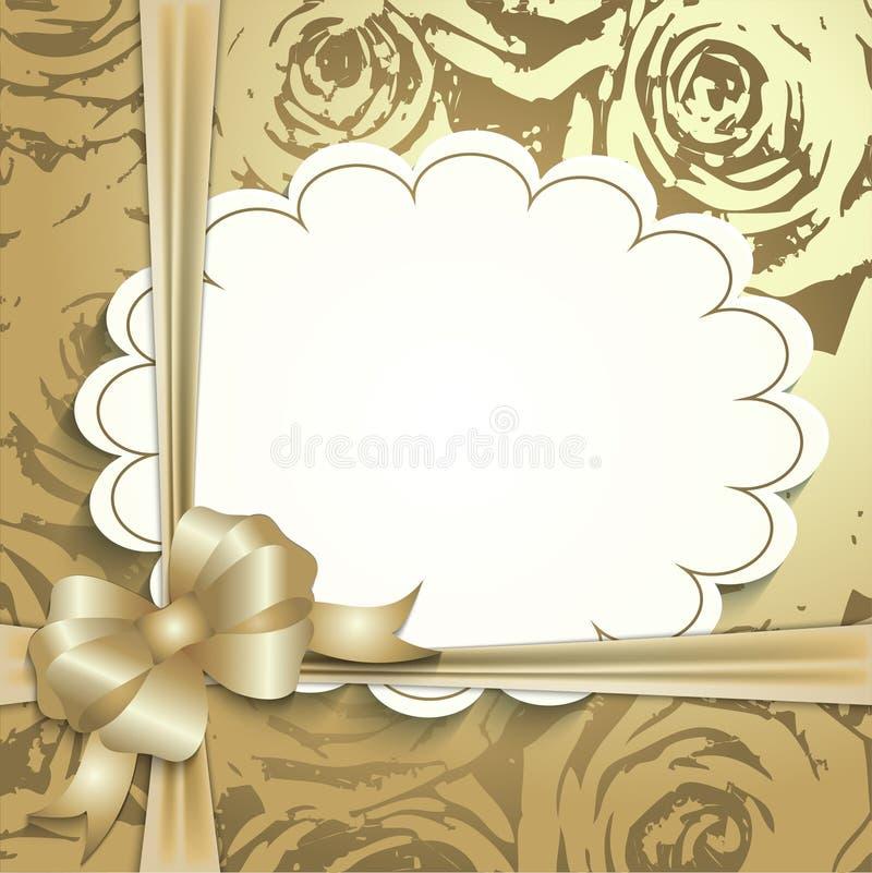 Giftkaart, lint, plaats voor tekst royalty-vrije illustratie