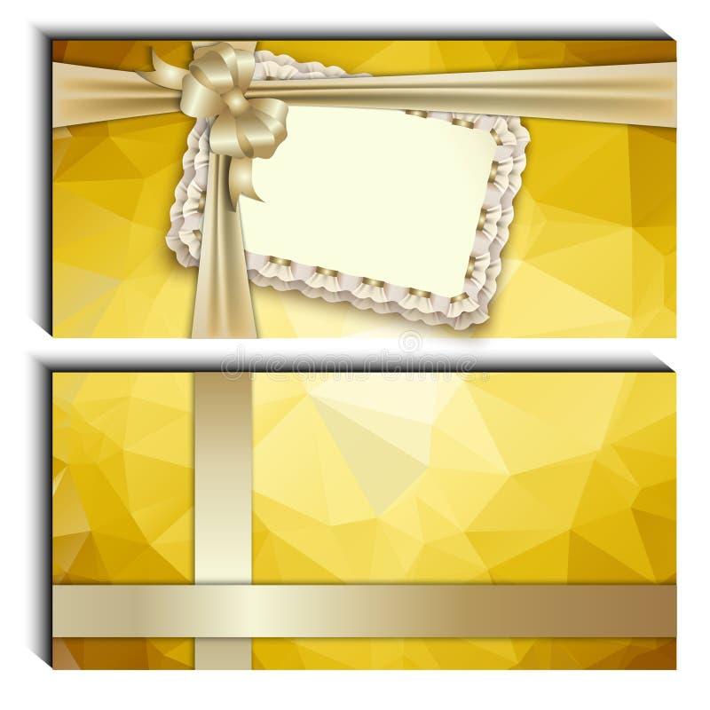 Giftkaart, lint, plaats voor tekst stock illustratie