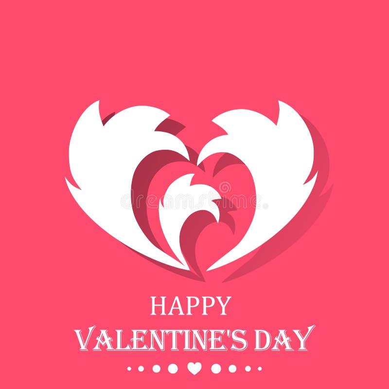 Giftkaart met een hart De gelukkige Dag van de Valentijnskaart `s Het elegante Element van het Ontwerp vector illustratie