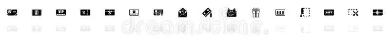 Giftkaarten - Vlakke Vectorpictogrammen royalty-vrije illustratie