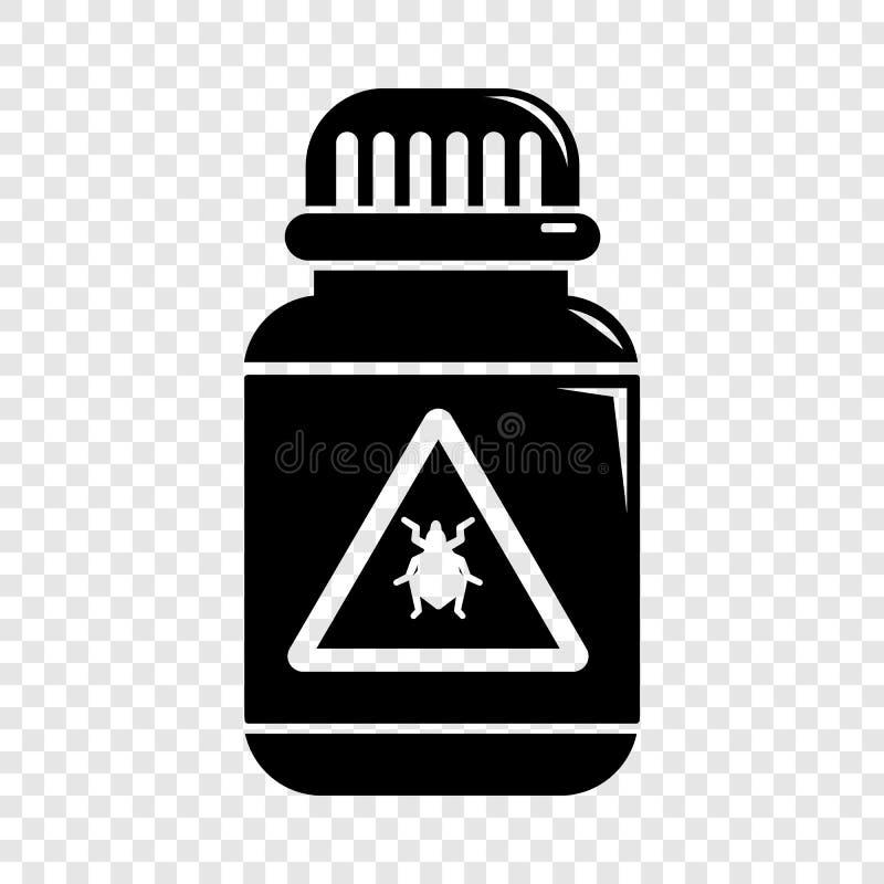Giftkrypsymbol, enkel svart stil vektor illustrationer