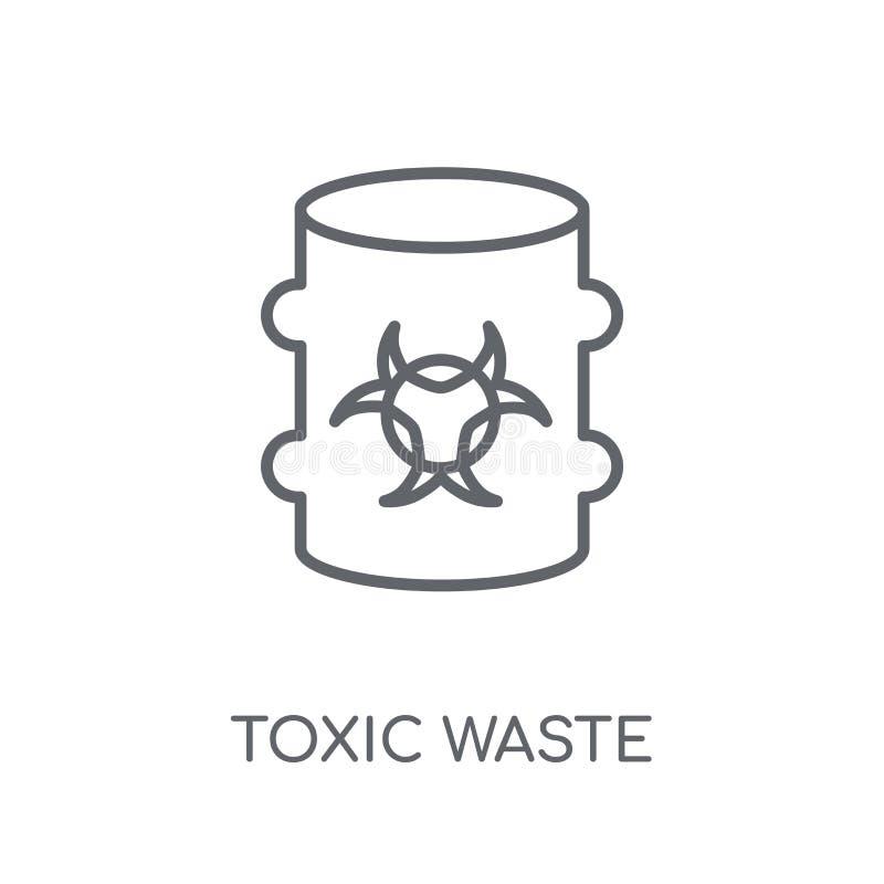 Giftlig förlorad linjär symbol Giftligt förlorat logobegrepp för modern översikt vektor illustrationer