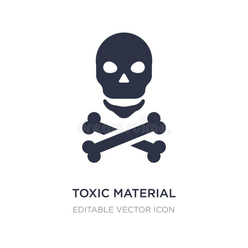 giftlig materiell symbol på vit bakgrund Enkel beståndsdelillustration från teckenbegrepp vektor illustrationer