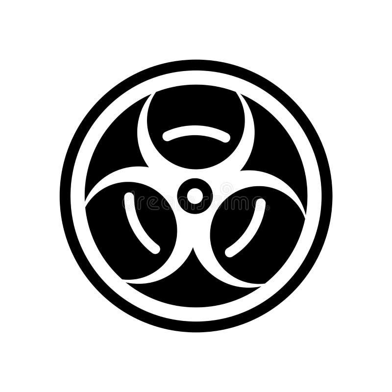 Giftlig materiell symbolsvektor som isoleras på vit bakgrund, giftligt M vektor illustrationer