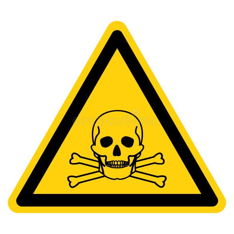 Giftlig materiell symbolteckenisolat på vit bakgrund, vektorillustration royaltyfri illustrationer
