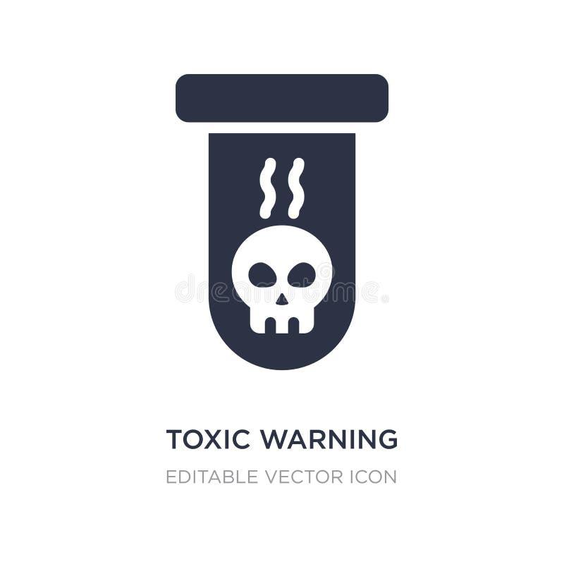 giftlig varnande symbol på vit bakgrund Enkel beståndsdelillustration från teckenbegrepp stock illustrationer