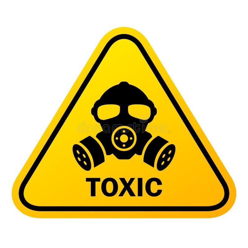 Giftligt kemikaliefaratecken royaltyfri illustrationer