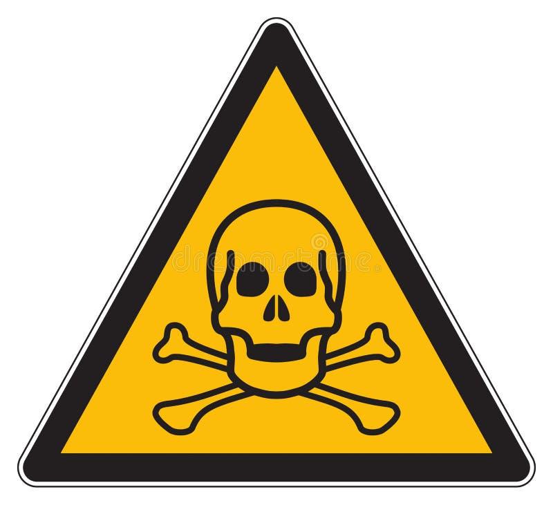 Giftligt varnande gult tecken vektor illustrationer