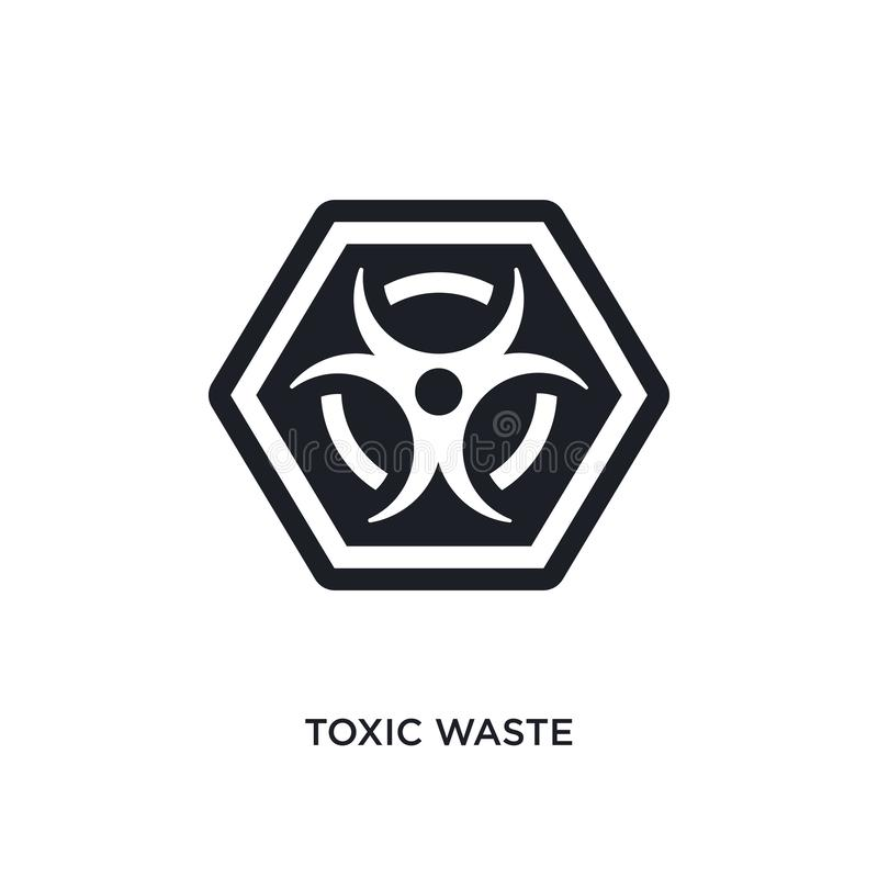 Giftmüll lokalisierte Ikone einfache Elementillustration von den Zeichenkonzeptikonen Logozeichen-Symbolentwurf des Giftmülls edi vektor abbildung