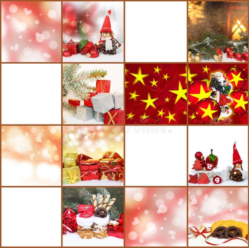 Giftmarkeringen, Kerstkaarten stock foto's