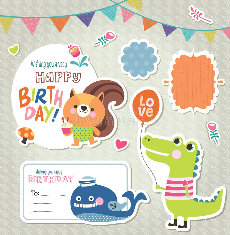 Giftmarkeringen & stickers vector illustratie