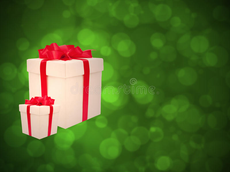 Download Gifts Against The Green Bokeh. Stock Photo - Image: 28100224