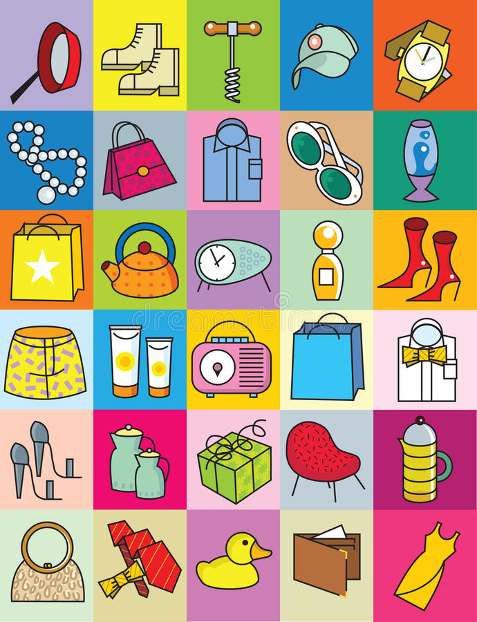 Download Gifts As Illustrative Icons Royalty Free Stock Photography - Image: 28266507