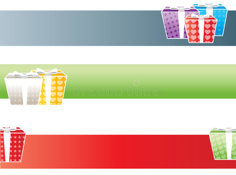 Download Gifts banners stock vector. Image of banners, foil, season - 3123493