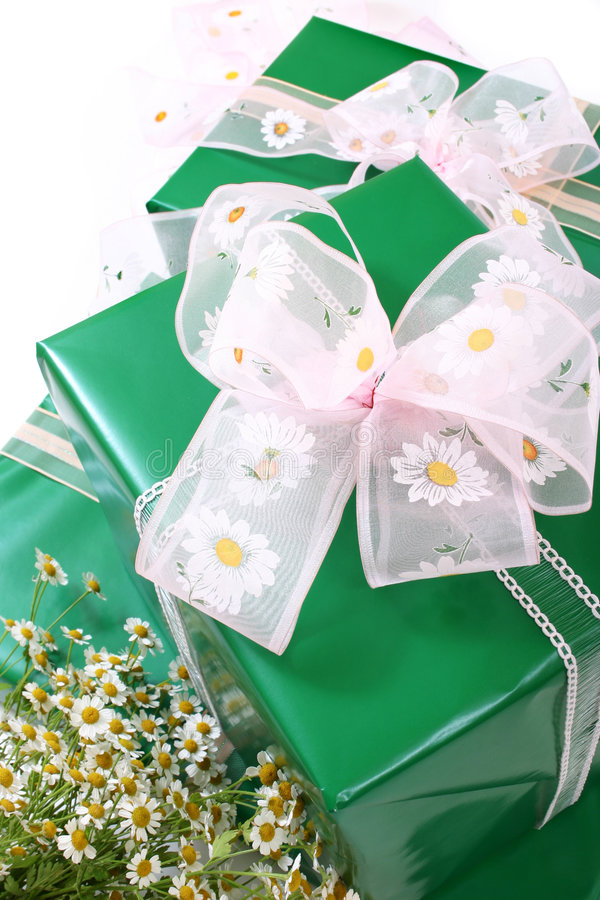 Gifts boxes stock photos