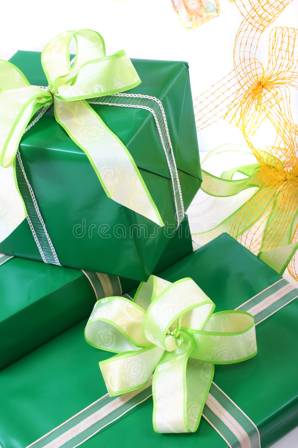 Gifts boxes royalty free stock photos