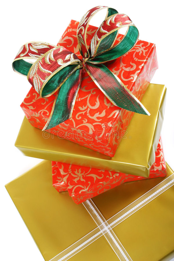 Gifts boxes stock image