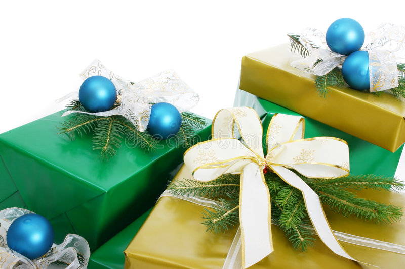 Gifts boxes royalty free stock photography