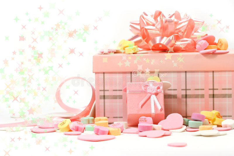 Download Gifts And Candies For Valentine's Day Stock Image - Image of romance, sweet: 4030361