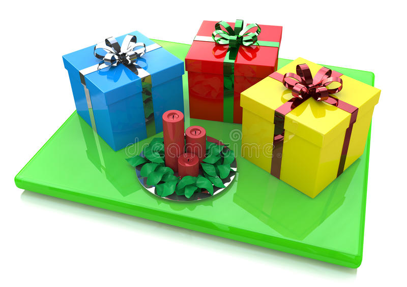 Gifts and Candles royalty free stock photography