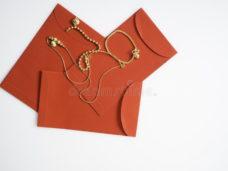 Gifts in Chinese New Year, Gold royalty free stock photography