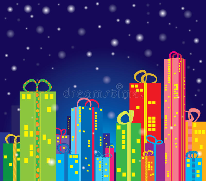 Gifts city royalty free stock photos
