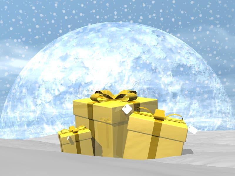 Gifts - 3D render stock illustration
