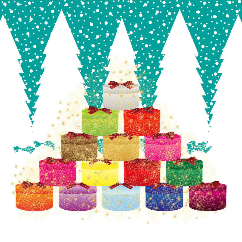 Download Gifts in the forest stock vector. Image of decorative - 28284777
