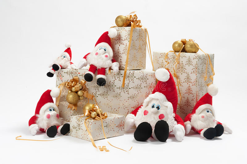 Gifts and gnomes stock photos