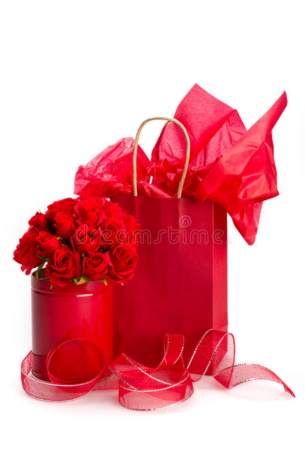 Gifts for Saint Valentine royalty free stock photo