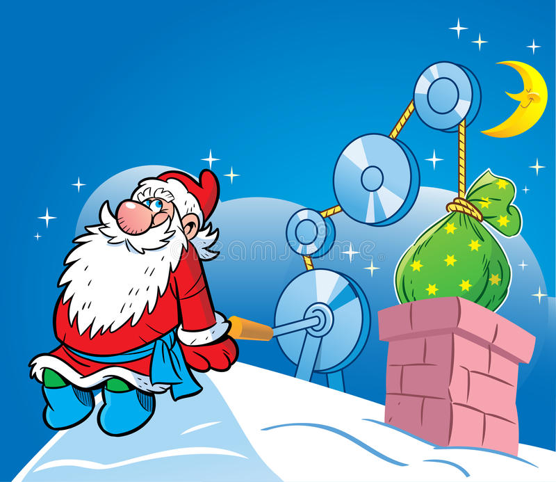 Gifts from Santa Claus vector illustration
