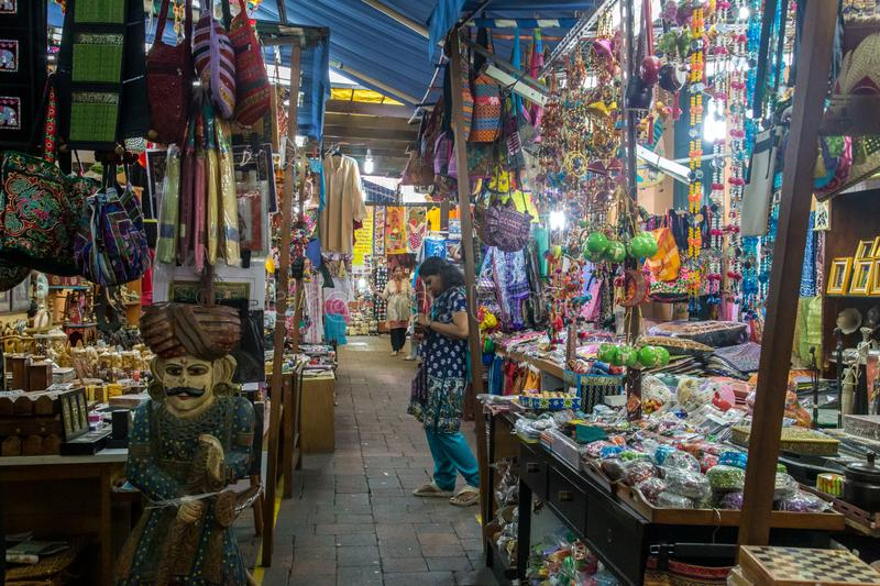 Gifts shops in Little India district, Singapore royalty free stock images