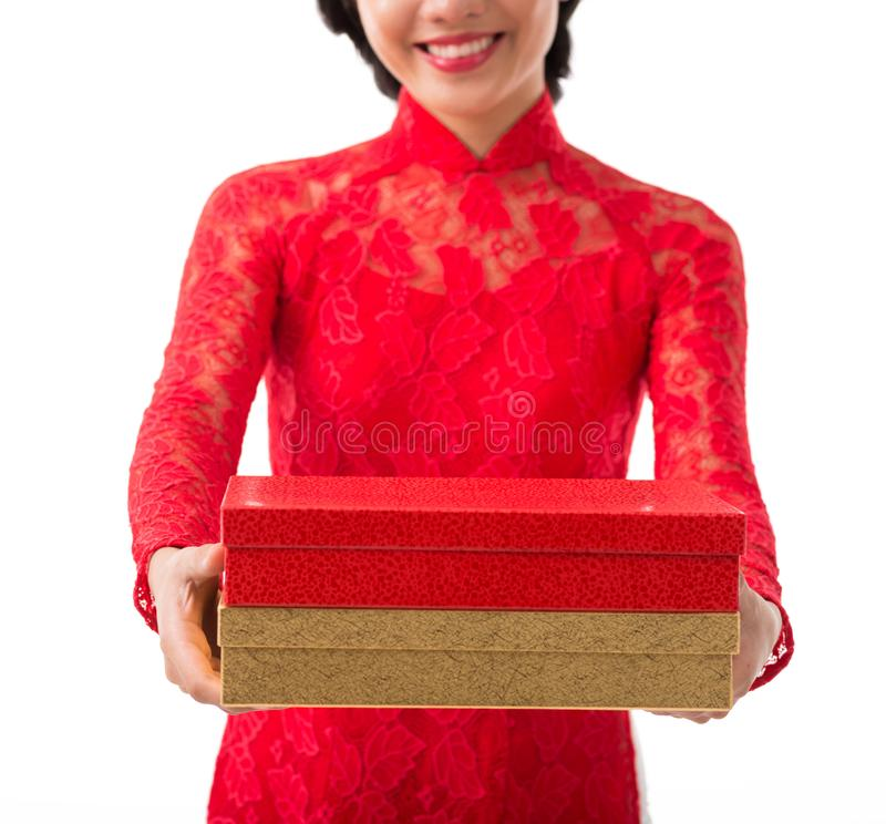 Gifts for Tet celebration stock photo