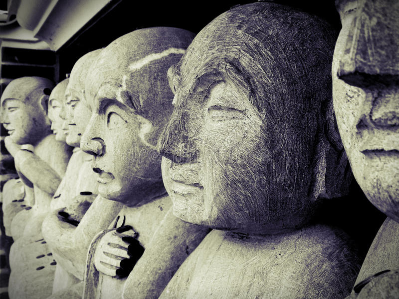 Gifts to the gods statues, buddha eden royalty free stock photos