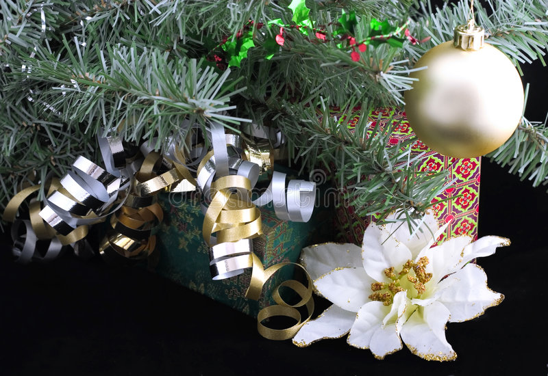 Download Gifts under christmas tree stock image. Image of beautiful - 353729