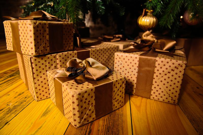 Download Gifts are under the tree stock image. Image of decoration - 107067943