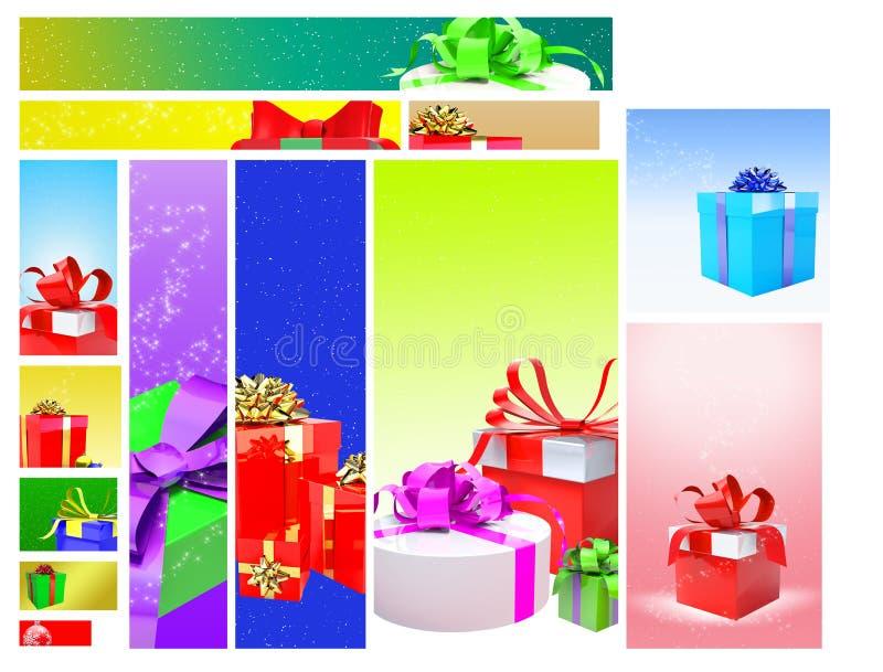 Gifts Web Banner Design royalty free illustration