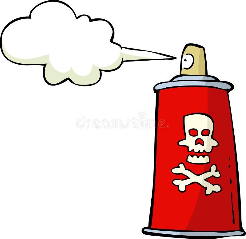 Giftspray lizenzfreie abbildung