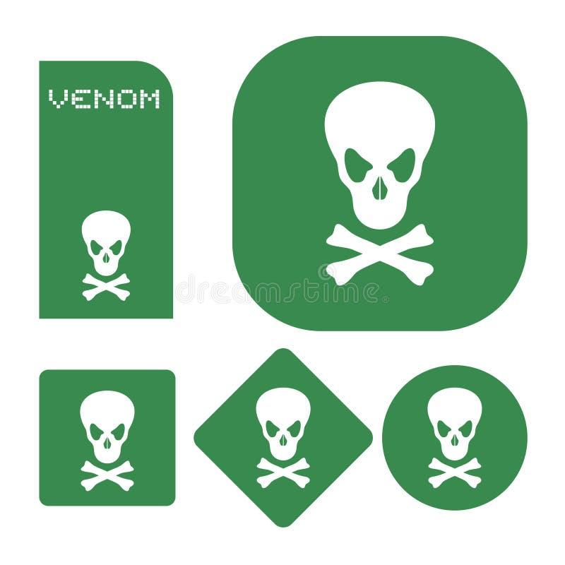 Giftsymboler vektor illustrationer