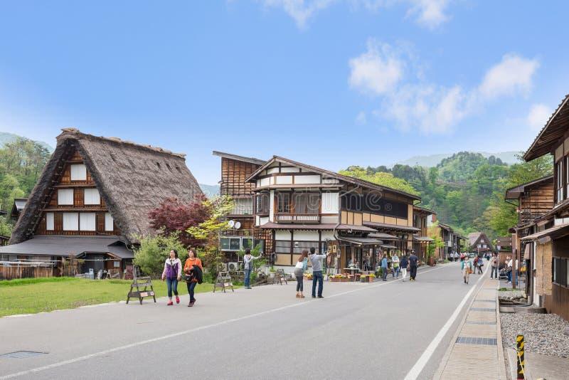 GIFU,JAPAN - 10 Mayl,2015 : Shirakawago Declared a UNESCO world heritage site in 1995, Shirakawago is famous for their traditional. Gassho-zukuri farmhouses stock photography