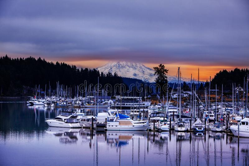 Gig Harbour Stan Rainier Washington fotografia royalty free