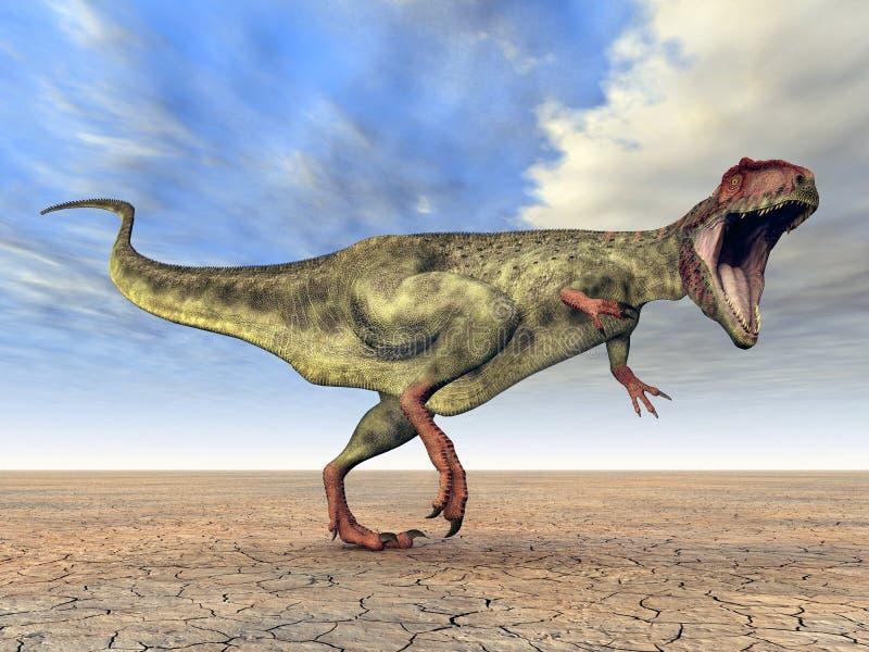 giganotosaurus δεινοσαύρων διανυσματική απεικόνιση