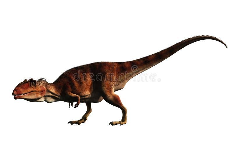 Giganotosaurus zonder Achtergrond royalty-vrije illustratie