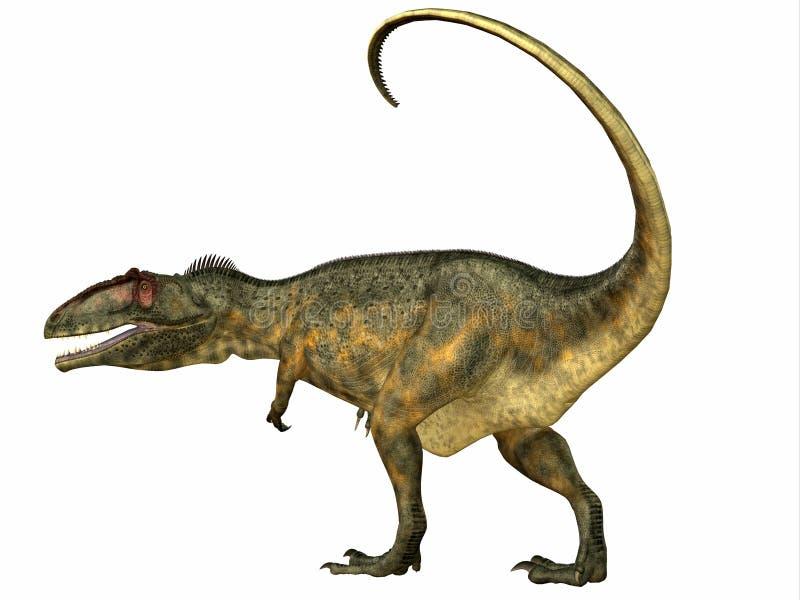 Giganotosaurusdinosauriesvans stock illustrationer