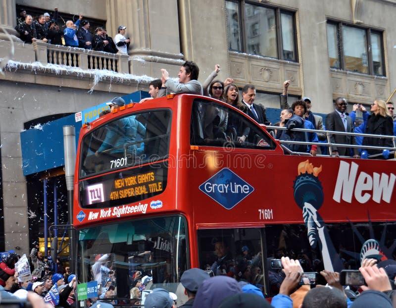 gigantów nowy parady zwycięstwo York obraz royalty free