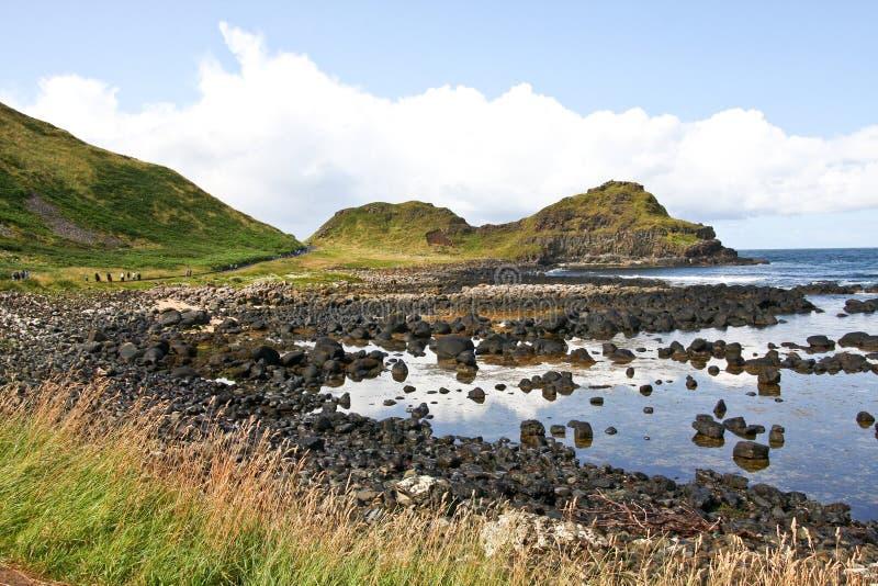 Giganta Clifffs i, - Ireland obrazy stock