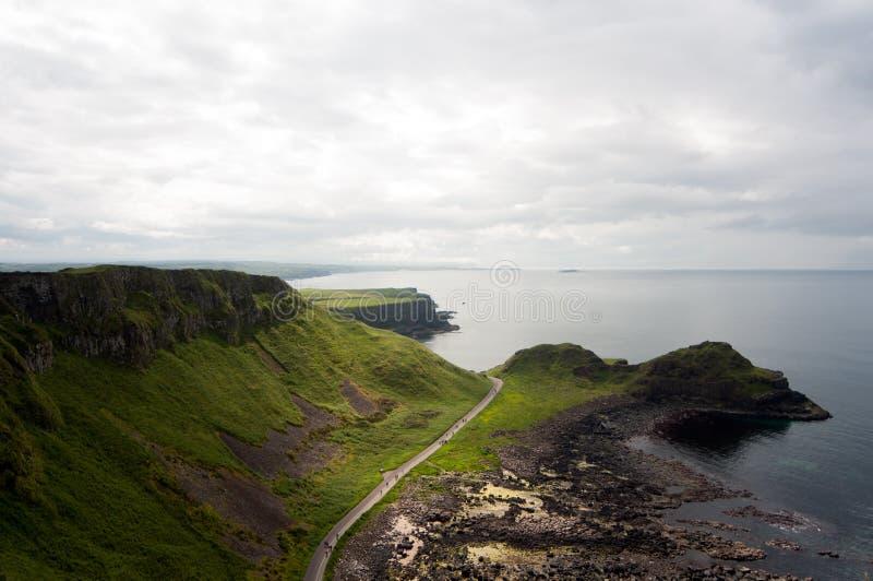Giganta droga na grobli, Północny Irlandia zdjęcia royalty free